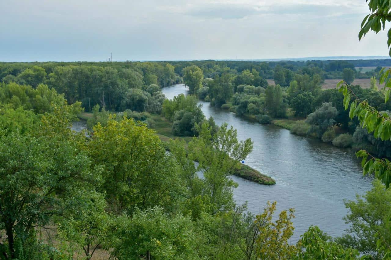 Zusammenfluß Elbe & Moldau