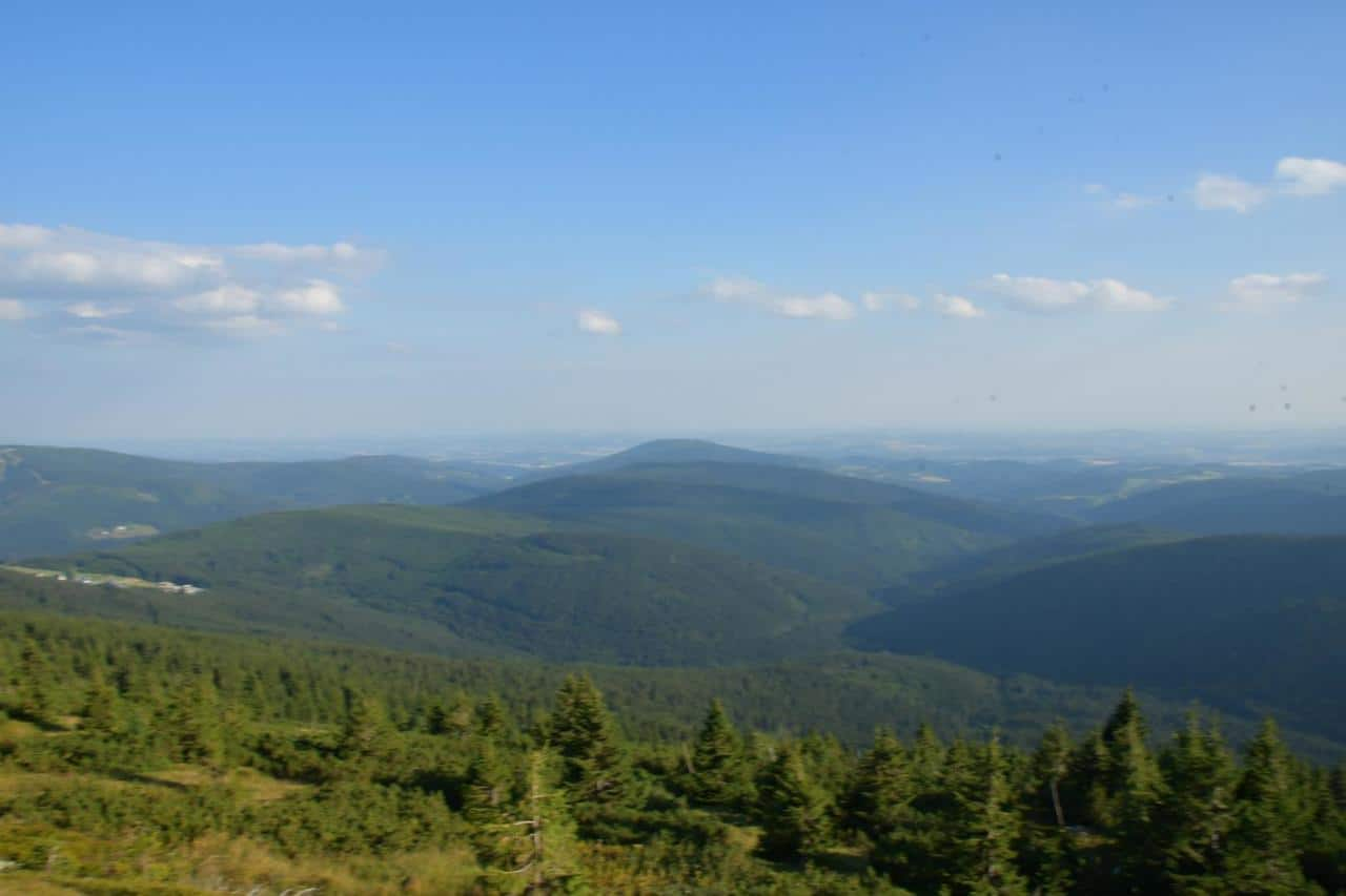 Blick über das Riesengebirge