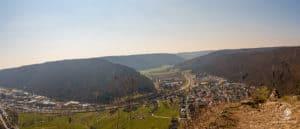 Blick von der Ruine Günzelburg über Blaubeuren
