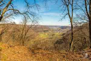 Blick vom Aussichtsfelsen Aufhausen