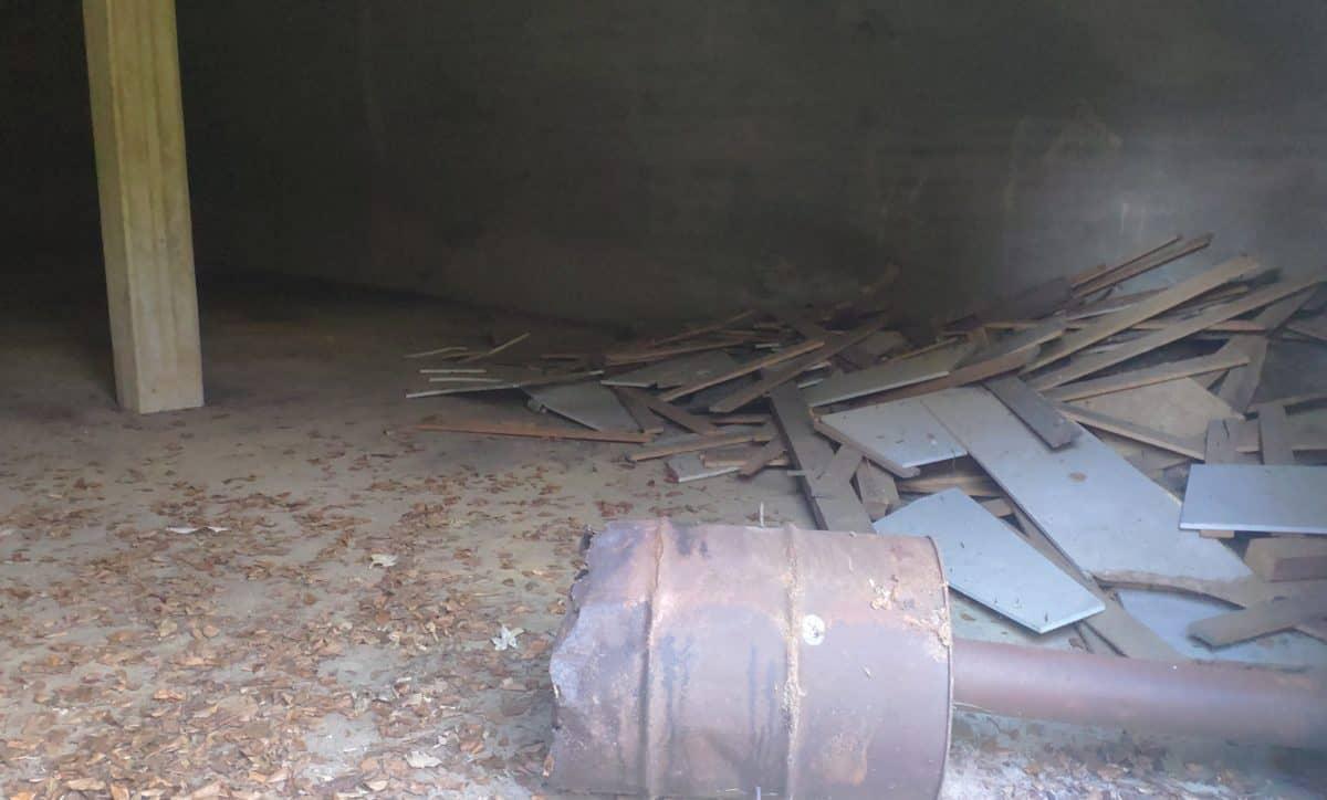 Müll im Bunker