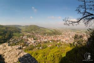 Panorama vom Burgfelsen Rosenstein aus