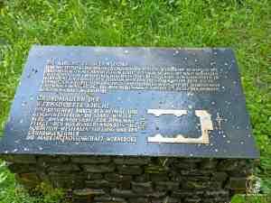 Gedenkstein für das versunkene Dorf