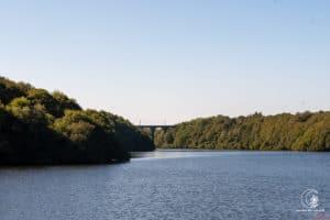 Der Stausee der Gouet und das Viadukt