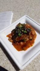 Pork Tenderloin with Cannelloni Bean Ragout and Zinfandel Reduction