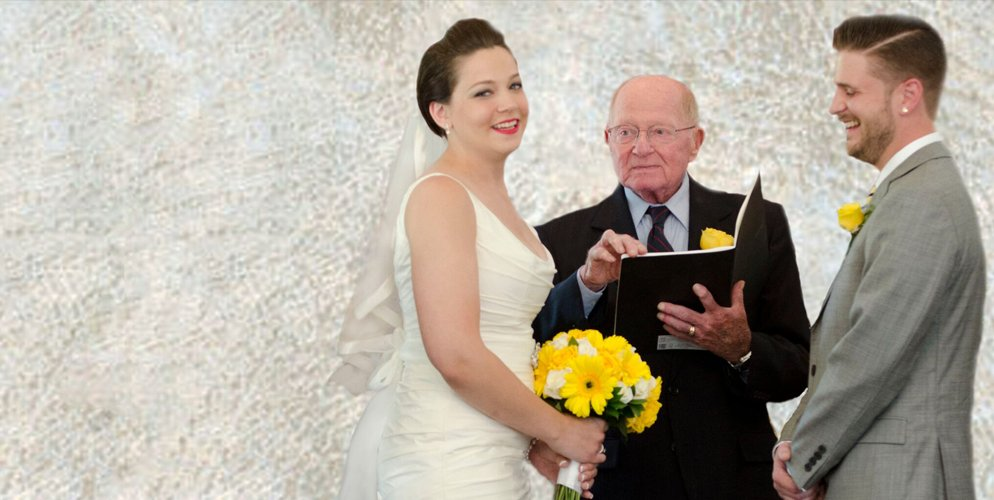 JP officiates Abby and Mike Wedding Ceremony