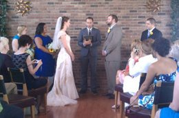 Wedding ceremony for Shannon Houston & James Wenkert officiated by JP in testimonial