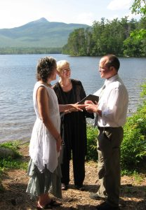 Erin & Adam at Chocorua Lake with JP Jeanne Pounder