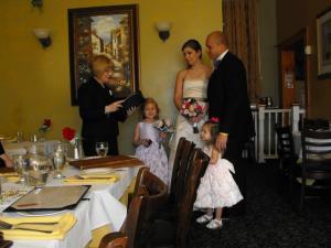 Restaurant wedding, Wallingford