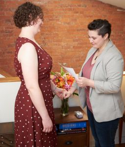 Alexis & Danna - Sharing personal vows at home in an intimate ceremony