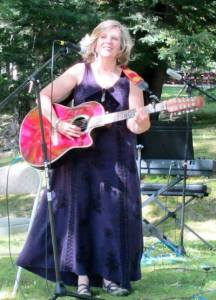 Performing at Our Lady Of Lourdes Shrine, Litchfield