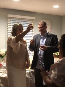 Reginaldo and Rosani celebrating their I Do