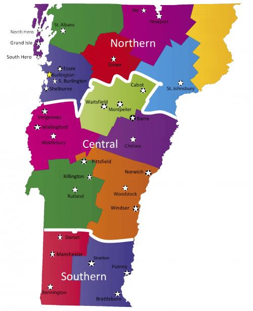 Regions in Vermont