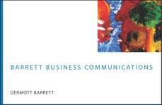 Barrett Business card front