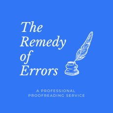 The Remedy of Errors is a professional proofreading service.