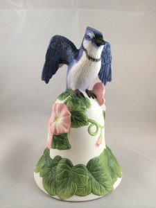 2001 Avon BlueJay and Flower Bell