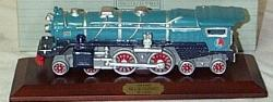 AVON LIONEL CLASSIC TRAIN COLLECTION (1991) Blue Comet Hartford Porcelain with Wood Base