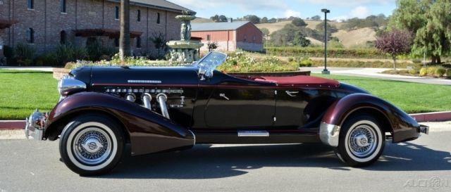 Replica Kit Makes Speedster Convertible 1936 Black For