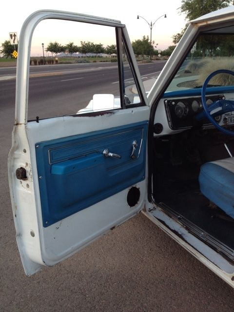 Chevrolet C 10 Standard Cab Pickup 1972 White For Sale