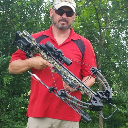 Man Holding TenPoint Turbo GT Crossbow