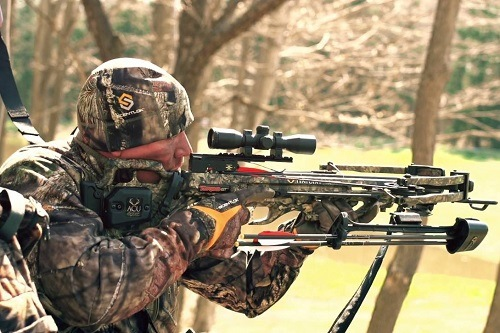 Man Shooting With TenPoint Turbo GT Crossbow