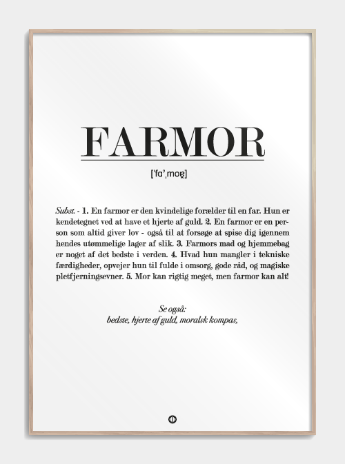 Plakat - farmor Image