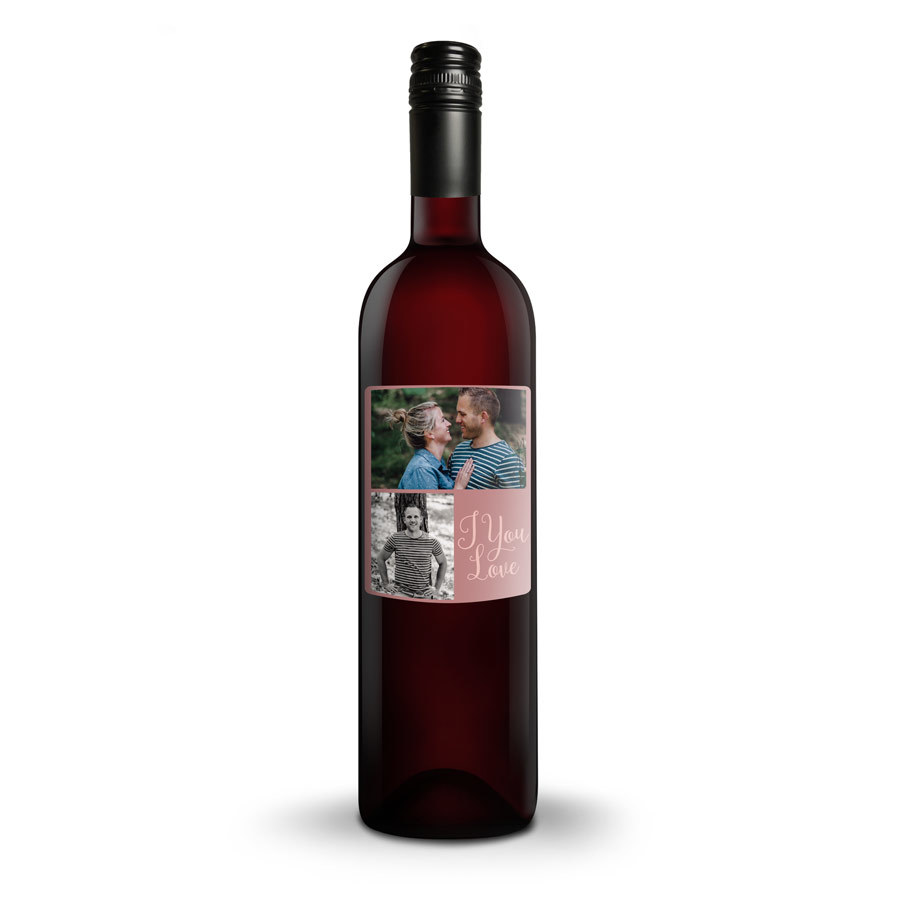 Personlig vin med påtrykt etikette Image