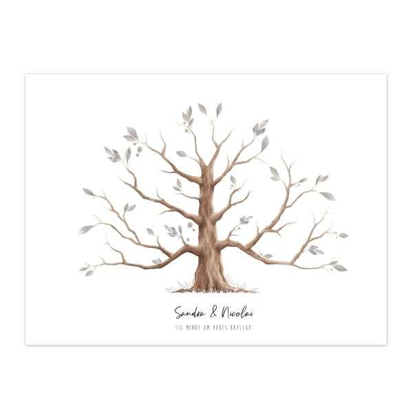 Fingertryksplakat Træ Image