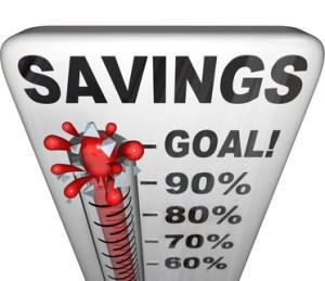 Savings Thermometer Measuring Money Nestegg Increase