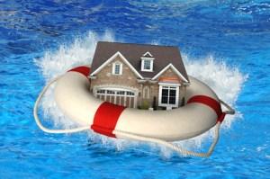 House With Life Preserver Crashing