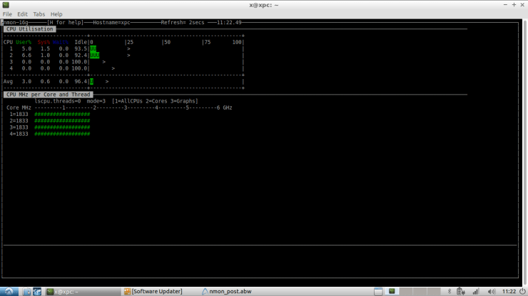 Nigel's performance Monitor for Linux (nmon) 1