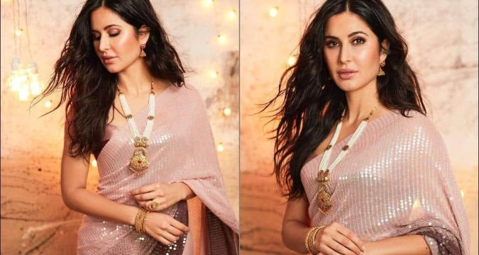 Katrina Kaif looks nothing short of glorious as she stuns in Manish Malhotra's signature sequin saree for Diwali