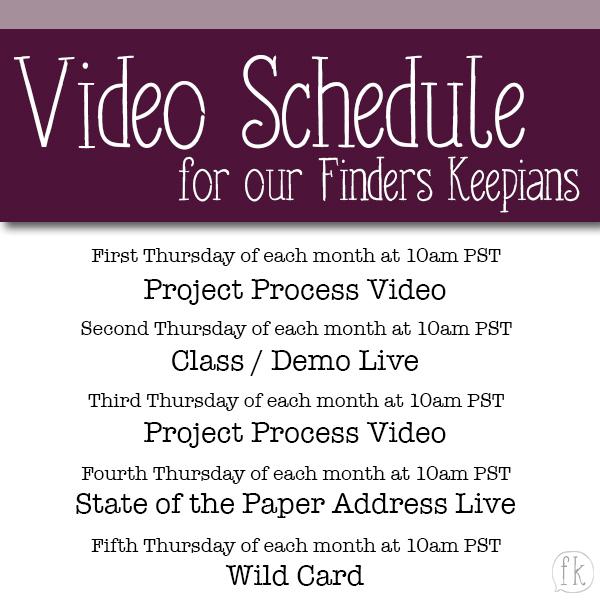 Generic Video Posting Schedule