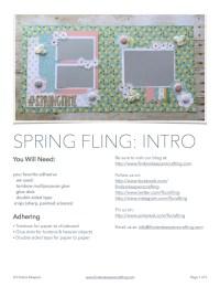 Spring Fling 12x12 pdf image