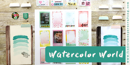Watercolor World Planner Pops