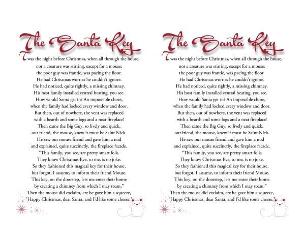 Santa Key Printable