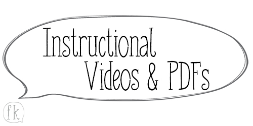Instructional Videos & PDFs