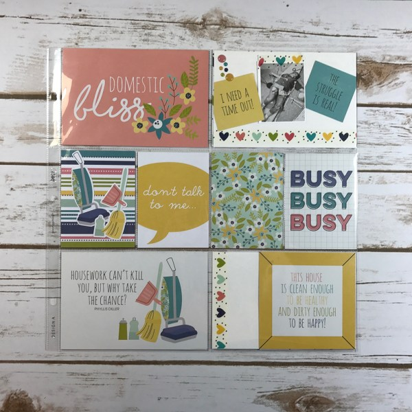 Domestic Bliss Easy Peasy Pocket Cards - Gallery