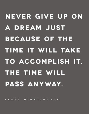 never give up a dream