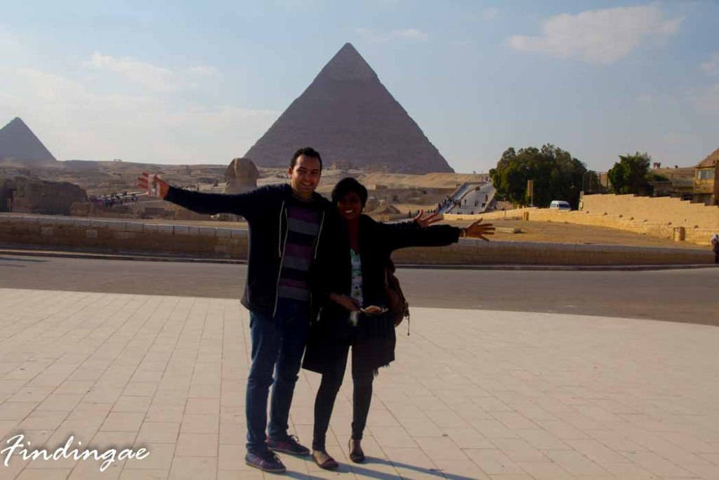 Olopade Anuoluwapo at the pyramids of Giza
