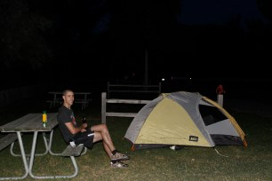 """Our first """"tenting"""" together!"""