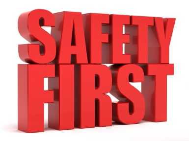 Safety First 3d text