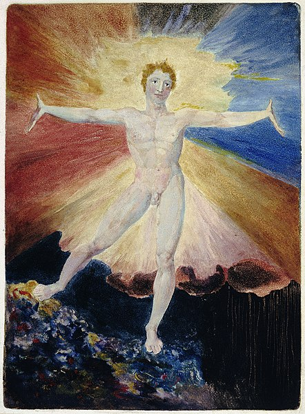 Albion Rose by William Blake (1793-6)