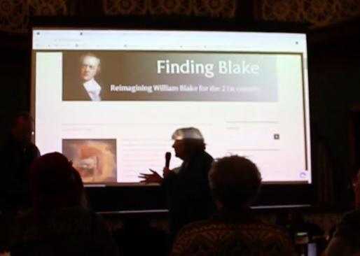 Clare Crossman speaking at Nenthead Arts & Visitor Centre