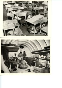 Take Cover & Radiation Shelter Two images from the Diefenbunker Research Archive Take Cover: Second grade schoolchildren are taught to take cover in the event of a sneak attack. New York City, 1951. Photograph by Sondak-Keystone Pictures Radiation Shelter: Garden City, Long Island, New York, 1954. LIFE photography by Walter Sanders
