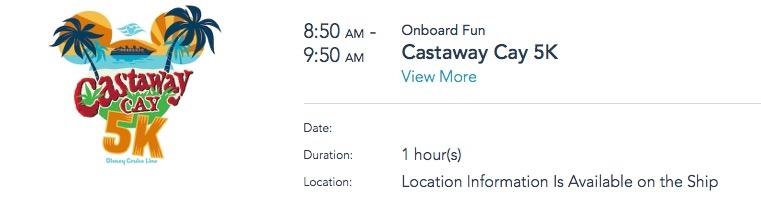 An image of Castaway Cay 5k registration