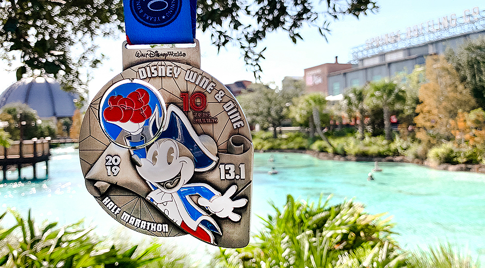 Disney Wine and Dine Half marathon medal