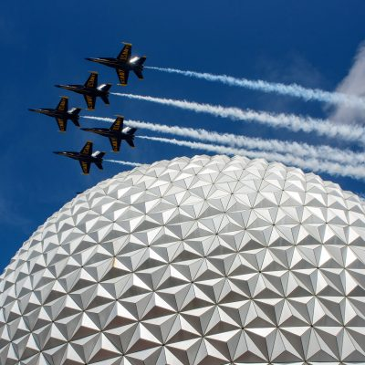 Blue Angels fly over Epcot