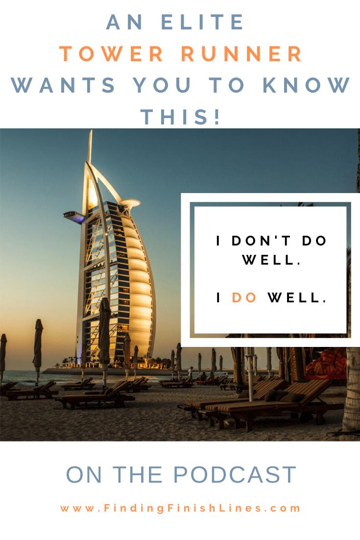 A challenge for a tower runner, a skyscraper in Dubai