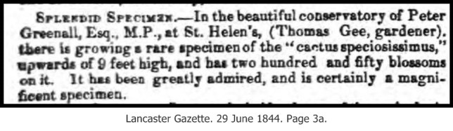 Lancaster Gazette 29Jun1844 Thomas Gee with caption